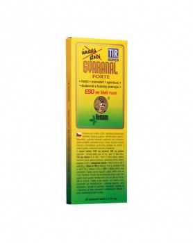 GVARANAL forte 20 tablet guarana, energie, přírodní kofein, přírodní stimulant