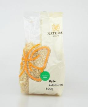 KULATOZRNNÁ RÝŽE - neloupaná 500 g neloupaná rýže, rýže