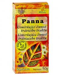 PANNA - USMĚRŇUJÍCÍ ČINNOST TRÁVICÍHO TRAKTU sypaný čaj 50g trávicí trakt, slezina, střeva, peristaltika střev, lepší trávení, bylinný čaj, čaj, milota
