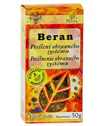 BERAN - OBRANNÝ SYSTÉM sypaný čaj 50g astma,nachlazení,proti chladu,zánět nosních dutin,bylinný čaj,trávení,štítná žláza