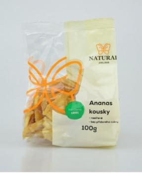 ANANAS - nesířený 100 g ananas, sušené ovoce, nesířené