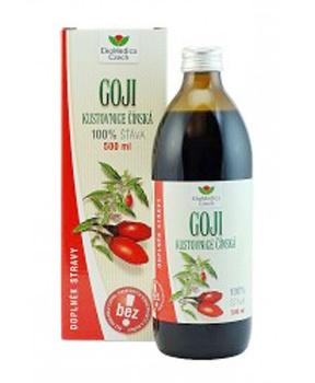 GOJI - KUSTOVNICE ČÍNSKÁ šťáva juice 500 ml goji šťáva, 100% přírodní šťáva z goji, goji, kustovnice