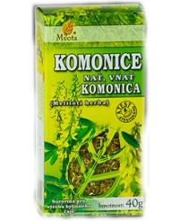 KOMONICE NAŤ 40 g komonice, prokrvení mozku, křeče, hladké svalstvo, zánět žil, hemeroidy, otoky, vředy