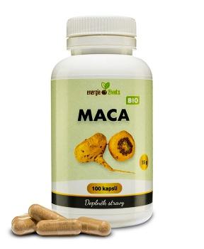 MACA prášek kapsle 100 tob. hormony,plodnost,sex,menopauza,únava,energie,návaly,klouby,estrogen