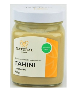 TAHINI 310 g tahini, hummus, sezam, sezamová pasta, falafel, chalva