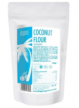 KOKOSOVÁ MOUKA 200g kokos,tuky,mouka,dieta,low carb,vegan,vláknina