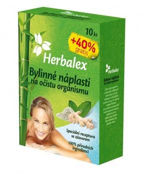BYLINNÉ NÁPLASTI NA OČISTU ORGANISMU 14 ks herbalex, bylinné náplasti, očista, očista organismu, detox, únava, bolesti, spánek, vyrážky, metabolismus