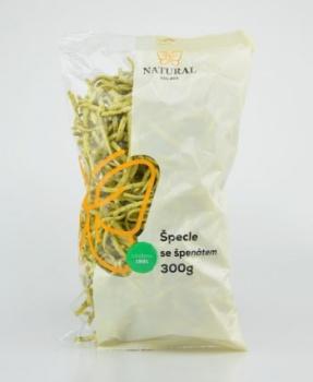 ŠPECLE SE ŠPENÁTEM  300 g vaječné těstoviny, špecle, špecle se špenátem, vejce z domácího chovu