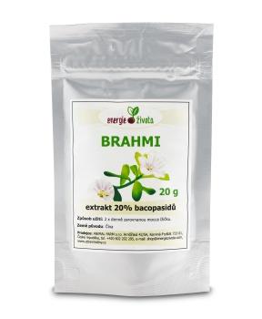 BRAHMI - extrakt 20% bacopasidů 20g mozek paměť koncentrace
