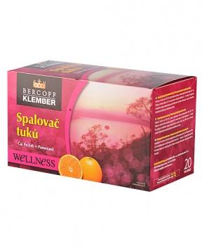 SPALOVAČ TUKŮ S POMERANČEM porcovaný čaj 30g spalovač tuků, dieta, hubnutí, pu-erh, metabolismus
