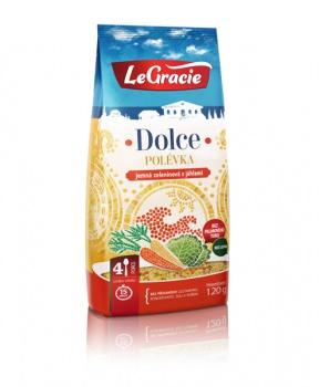 DOLCE - JEMNÁ ZELENINOVÁ POLÉVKA 120g polévka, zeleninová polévka, jídlo do práce, luštěniny, jáhly, zelenina, legracie