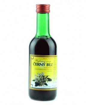 ČERNÝ BEZ - bylinný sirup 250 ml bylinný sirup bez cukru, sirup s fruktźou černý bez