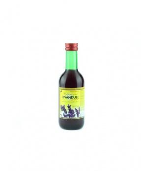 LEVANDULE - bylinný sirup 250 ml bylinný sirup bez cukru, bylinný sirup s fruktózou