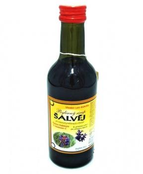 ŠALVĚJ - bylinný sirup 250 ml bylinný sirup bez cukru, bylinný sirup s fruktózou