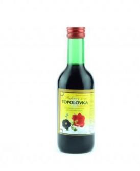 TOPOLOVKA - bylinný sirup 250 ml bylinný sirup bez cukru, bylinný sirup s fruktózou