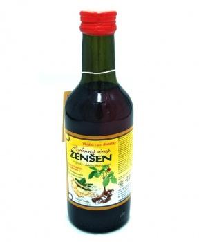 ŽENŠEN - bylinný sirup 250 ml bylinný sirup bez cukru, bylinný sirup s fruktózou