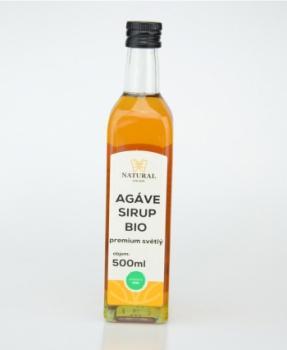AGÁVE SIRUP SVĚTLÝ bio premium 500 ml zdravá sladidla, agáve sirup bio