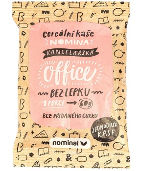 NOMINA OFFICE - cereální kaše 60 g instantní kaše do hrnku