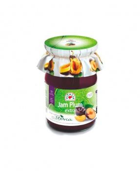 ŠVESTKOVÝ DŽEM SE STÉVIÍ  230g švestkový džem, džem se stévií, vhodný pro diabetiky