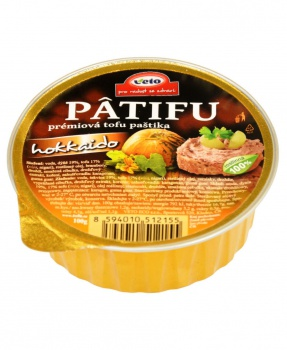PATIFU HOKKAIDO 100g paštika, tofu paštika, vegan, pomazánka, prémiová tofu paštika