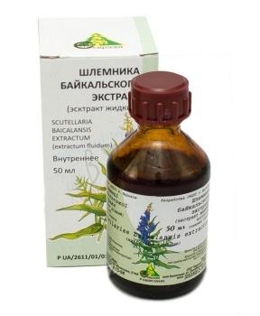 ŠIŠÁK BAJKALSKÝ extrakt 50 ml šišák bajkalský, nervy