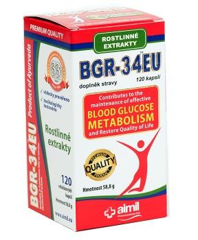 BGR-34EU 120 kapslí cukrovka,inzulín,diabetes,glukóza