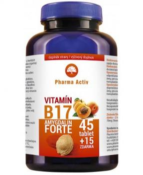 VITAMÍN B17 AMYGDALIN FORTE 60 tbl. meruňkové jádra, škodlivé buňky, zničení buňek, B17