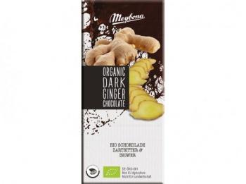Hořká čokoláda zázvor 52% bio