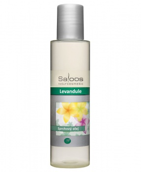 SPRCHOVÝ OLEJ LEVANDULE 125ml přírodní kosmetika, sprchový olej, levandule, uvolnění, stres, nespavost, citlivá pokožka, saloos