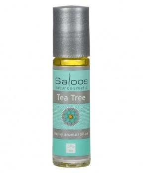 HOJIVÝ ROLL- ON TEA TREE 9 ml tea tree, antibakterální, jojobový olej, drobné poranění, opar, akné, bodnutí hmyzem, saloos, bio produkt, přírodní kosmetika