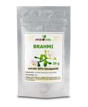 BRAHMI - extrakt 50% bacopasidů 20 g paměť,mozek,koncentrace,inteligence,iq,duchovní růst,myšlení,extrakt,antioxidant