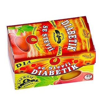 DIABETIK SE STÉVIÍ - porcovaný čaj 30 g diabetes,cukrovka,stévie,trávení