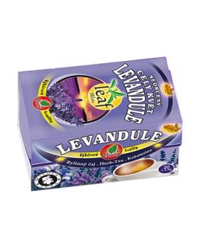 LEVANDULE KVĚT - porcovaný čaj 30 g spánek,únava,relaxace,vlasy,trávení