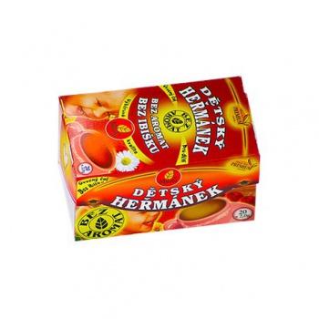 DĚTSKÝ OVOCNÝ S HEŘMÁNKEM porcovaný čaj 30g dětský ovocný s heřmánkem dětský porcovaný čaj