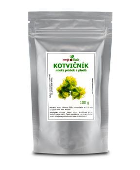 KOTVIČNÍK zemní mletý prášek z plodů 100 g tribulus terestris, kotvičník