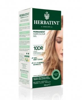 PERMANENTNÍ BARVA SVĚTLE MĚDĚNÁ ZLATÁ 10DR  permanentní barva na vlasy, světle měděná zlatá, přírodní barva na vlasy, barva na vlasy, měděná, herbatint