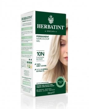 PERMANENTNÍ BARVA PLATINOVÁ BLOND 10N 150ml permanentní barva na vlasy, platinová blond, přírodní barva na vlasy, barva na vlasy, blond, herbatint