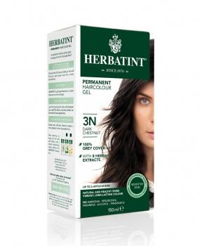 PERMANENTNÍ BARVA TMAVÝ KAŠTAN 3N 150ml permanentní barva, tmavý kaštan, barva na vlasy, přírodní barva na vlasy, kaštan, hnědá, herbatint