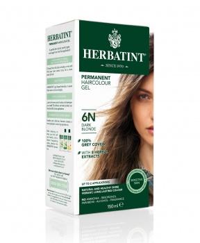 PERMANENTNÍ BARVA TMAVÁ BLOND 6N 150ml permanentní barva na vlasy, barva na vlasy, tmavá blond, blond, hnědá, přírodní barva na vlasy, herbatint