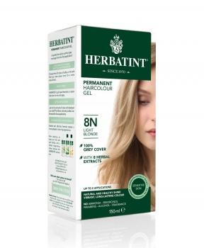 PERMANENTNÍ BARVA SVĚTLÁ BLOND 8N 150ml permanentní barva na vlasy, barva na vlasy, světlá blond, blond, přírodní barva, herbatint
