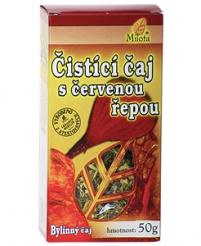 ČISTÍCÍ S ČERVENOU ŘEPOU sypaný čaj 50g čistící čaj,červená řepa,očistná kůra,detox,metabolismus,očista