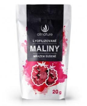 MALINY MRAZEM SUŠENÉ 20g maliny mrazem sušené, maliny, mrazem sušené, sušené ovoce