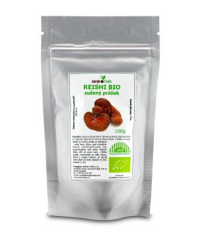 Houba REISHI BIO sušený prášek 100 g dlouhověkost rakovina nádory játra detoxikace