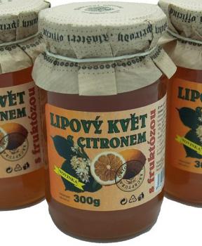 LIPOVÝ KVĚT S CITRÓNEM 300 g marmeláda z lípy, džem lipový květ, džem bez cukru