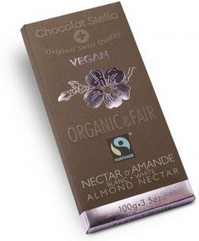 ČOKOLÁDA BÍLÁ s mandlemi bio 100 g čokoláda, bílá čokoláda, čokoláda bílá s mandlemi bio, bio čokoláda