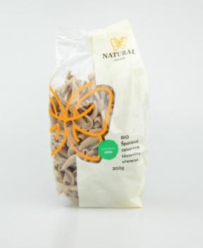 ŠPALDOVÁ VŘETENA BIO 300 g špalda,celozrnné těstoviny, BIO,bílkoviny