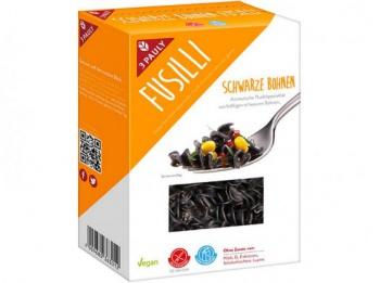 FUSILLI Z ČERNÝCH FAZOLÍ 250 g těstoviny z černých fazolí,fusilli z černých fazolí,fazole,dieta,střeva,dieta,hubnutí,vláknina,bez lepku,celiakie
