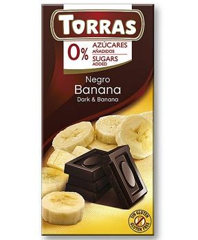 DIA HOŘKÁ ČOKOLÁDA S BANÁNEM 75 g hořká čokoláda bez cukru, dia čokoláda s banánem, banánová čokoláda bez cukru