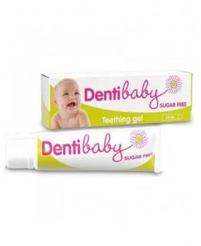 DENTIBABY zubní gel 25 ml dentibaby, gel na dásně, zubní gel, zuby, bolest zubů, bolest dásní, prořezávání zoubků, růst zubů, děti, pro děti, bez cukru
