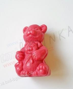 MÝDLO MEDVÍDEK 30g mýdlo medvídek, mýdlo, přírodní mýdlo, medvídek, malina